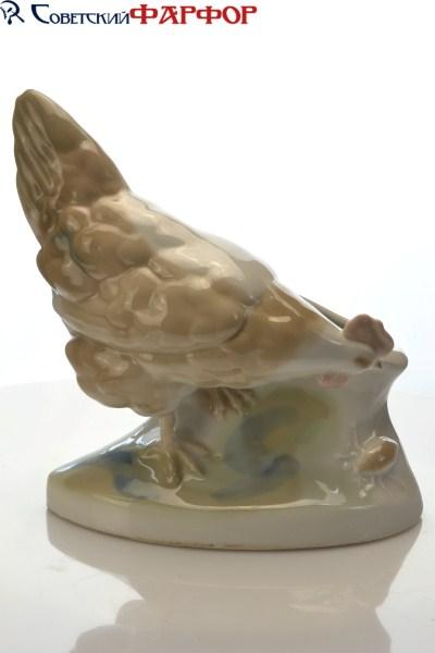 """Фарфоровая статуэтка """"Фарфоровая ландошница - Курица"""" Городница (УССР)"""