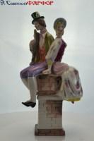 Фарфоровая статуэтка пастушки и трубочиста