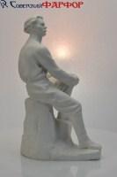 Молодой Горький - фарфоровая скульптура - ЛФЗ