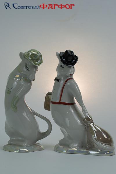 "Фарфоровая статуэтка ""Пара мышек"" Полтава"