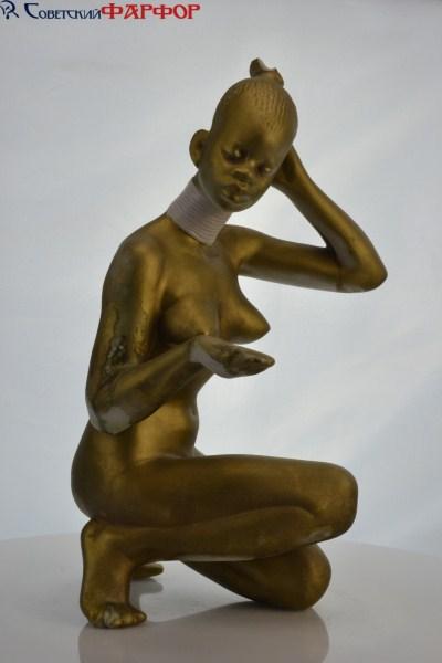 Негритянка, Дулево, фарфоровая статуэтка СССР